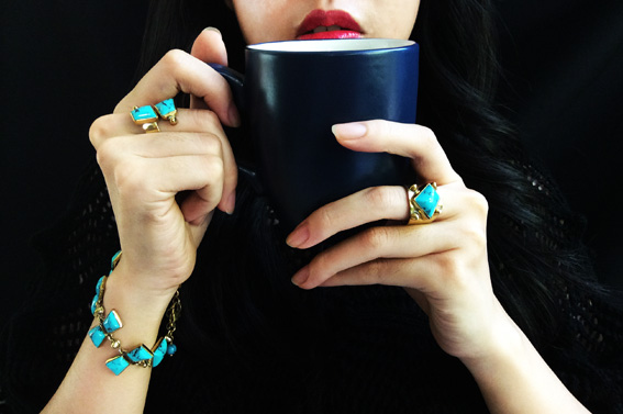 Drink Coffee with Triangle Knot Collection