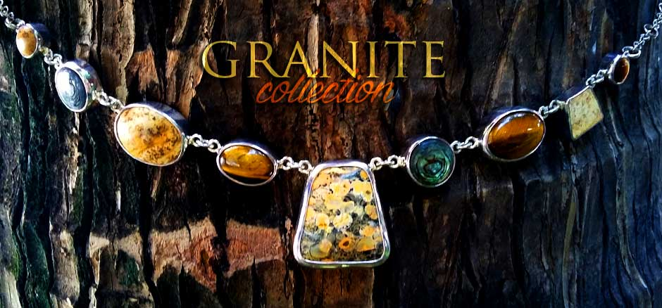 granite collection from silver 925 combined with beautiful variety stones